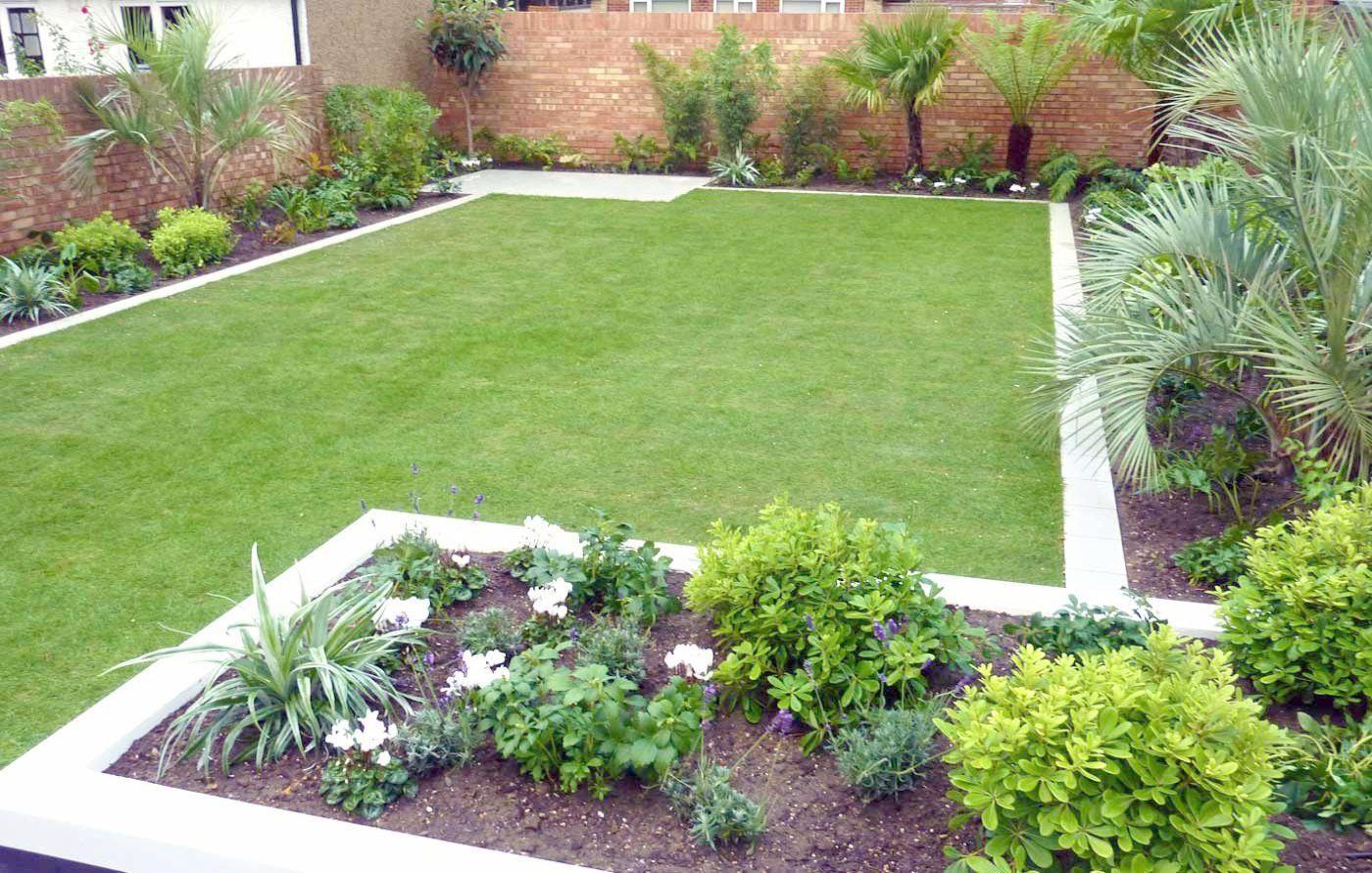 Landscape Design For Hilly Backyard Per Landscape Gardening Apprenticeship Wages Simple Garden Designs Garden Landscape Design Garden Design Layout