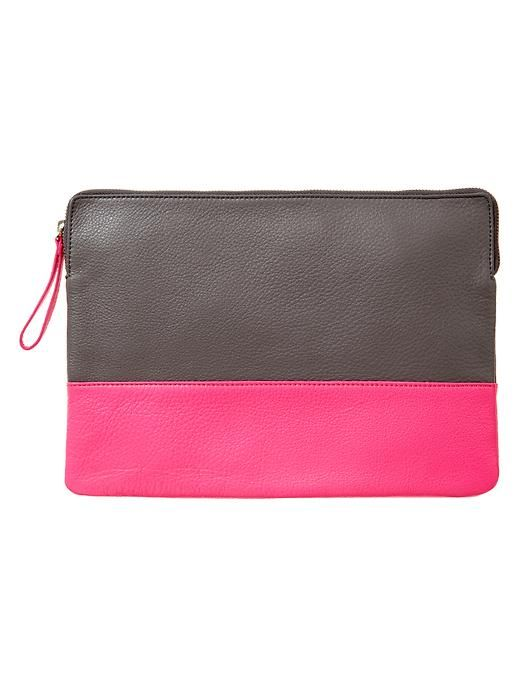 Gap Two Tone Leather Clutch