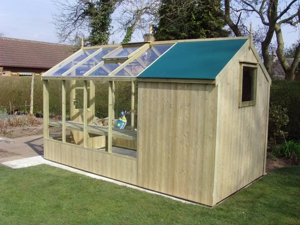 Swallow combination greenhouse shed 4 39 w garden Green house sheds