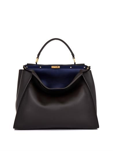 93927307283f Peekaboo large leather tote   Fendi   MATCHESFASHION.COM great classic bag   )