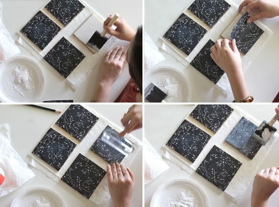 projects design unique coasters. DIY Coasters tutorial using ceramic tiles  printouts of any design and mod podge stylish diy constellation coasters Craft Tutorials