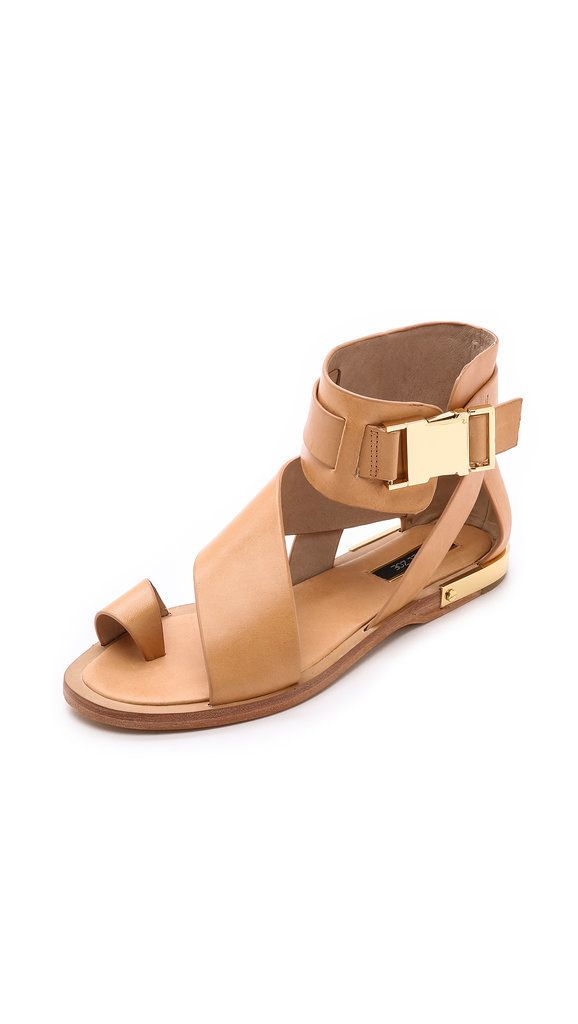 Cute Summer sandals you can wear to work: Rachel Zoe boho comfortable flat strappy Poppie Sandals ($295)