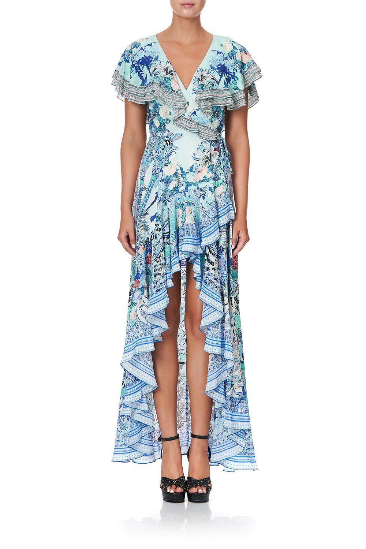 17++ Camilla frill hem long sleeve dress trends
