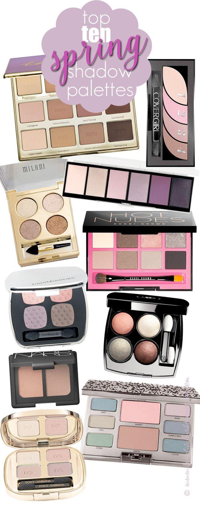 Top 10 Spring Eyeshadow Palettes.