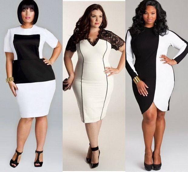 Платье стильные для полных девушек