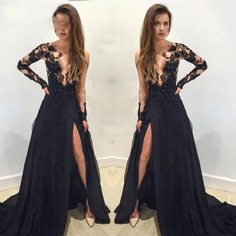 Long lace dresses for cheap