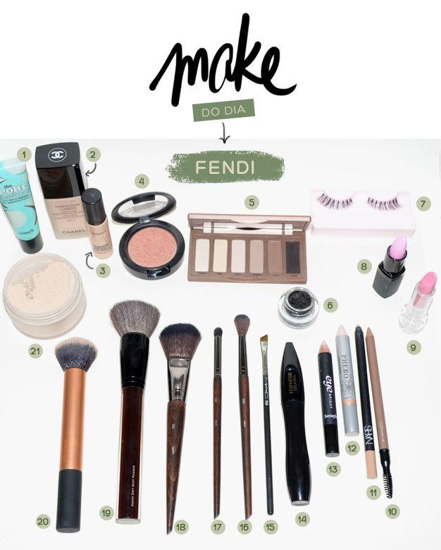 Make do dia – jantar Vogue + Fendi. Vic Ceridono | Dia de Beauté