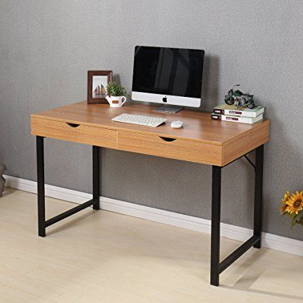 Soges Computer Desk 47 Pc Desk Office Desk With Drawers Workstation For Home Office Use Writing Table Teak 858 Y Zs Y Tưởng Tự Lam