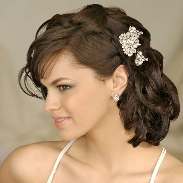 Medium Length Curly Hairstyles For Weddings: Wedding Hairstyles For Medium Length Hair