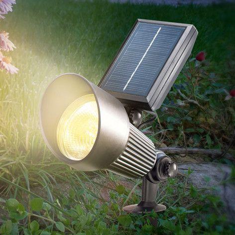 Schwarzer LED-Solarstrahler Spotlight m. RGB-Licht von Esotec