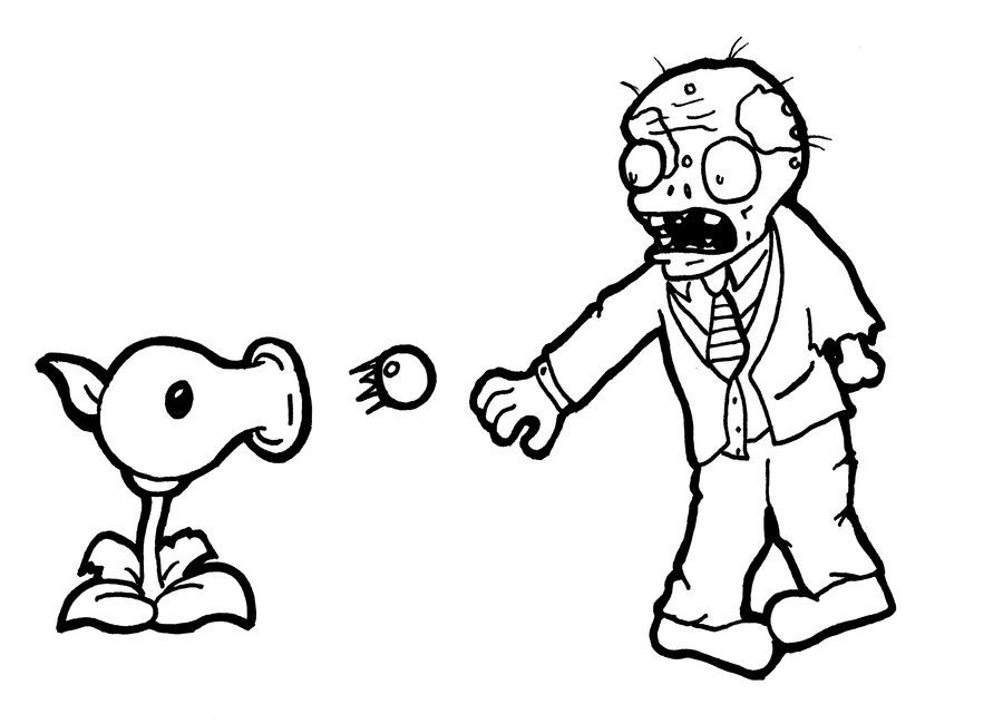Plants Vs Zombies Coloring Pages Free Coloring Pages For