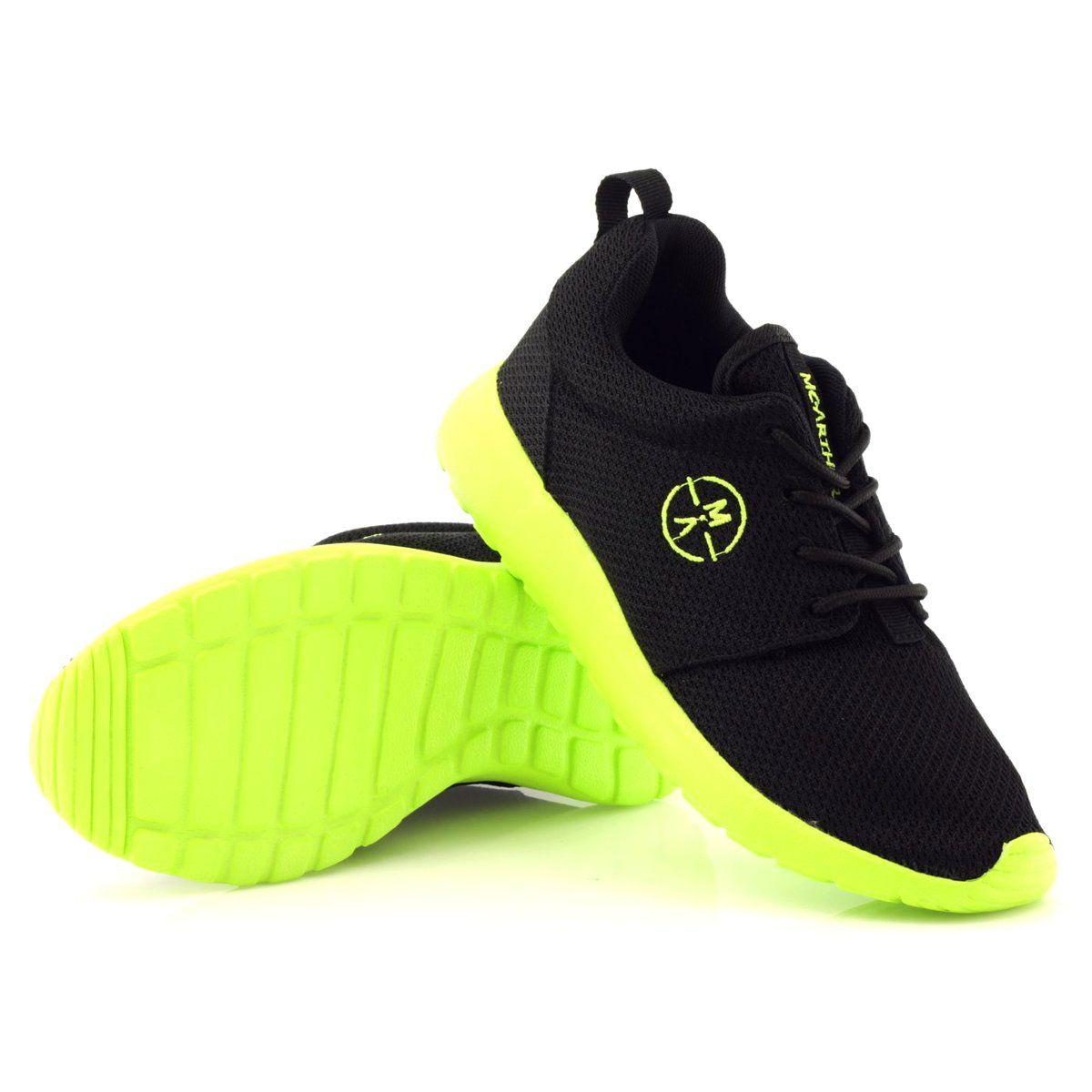Sportowe Damskie Mcarthur 06 Bk Czarne Zielone
