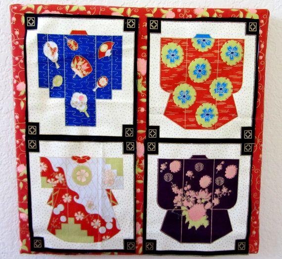 ASIAN Wall Art Kimono Cherry Blossom Japanese by