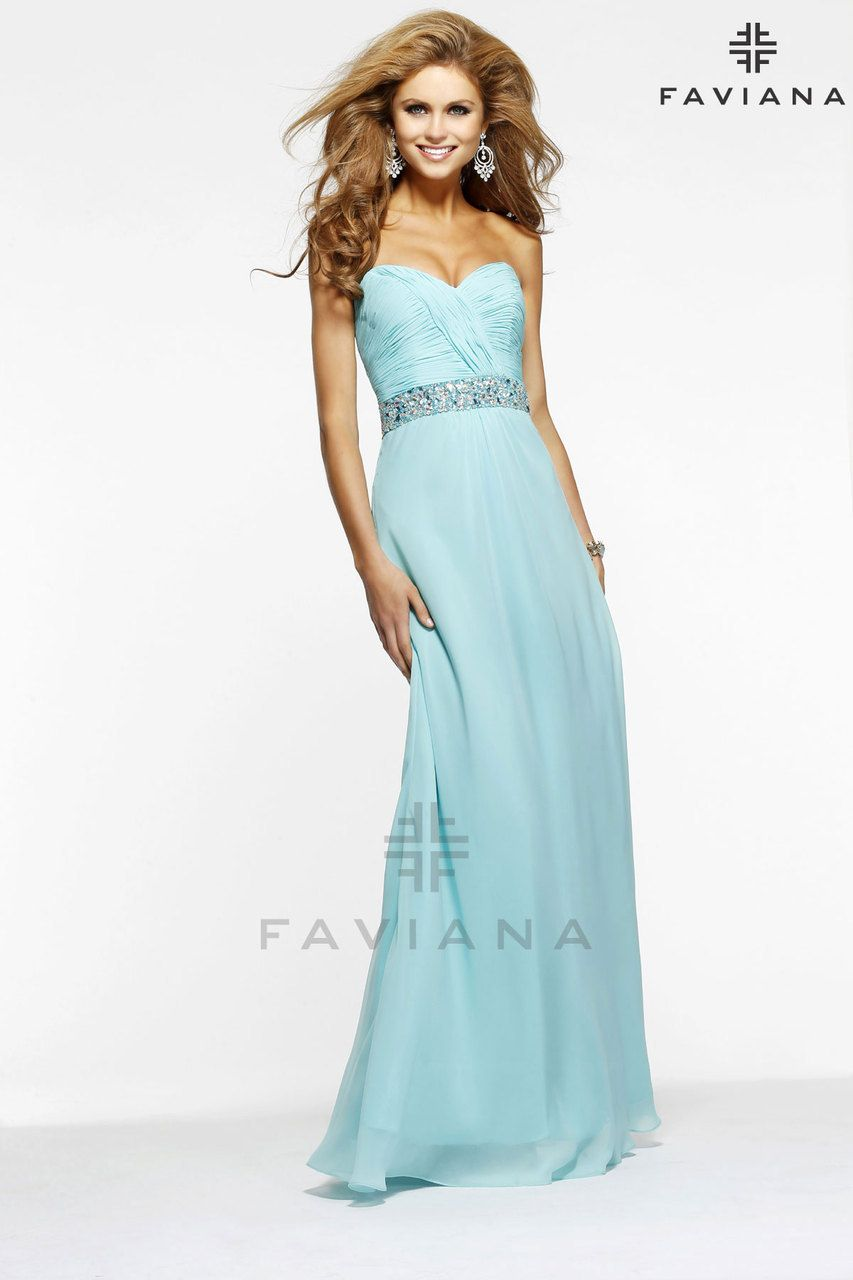 Bella Mera Bridal Boutique - Faviana Dress Style 7334 - Ruched ...