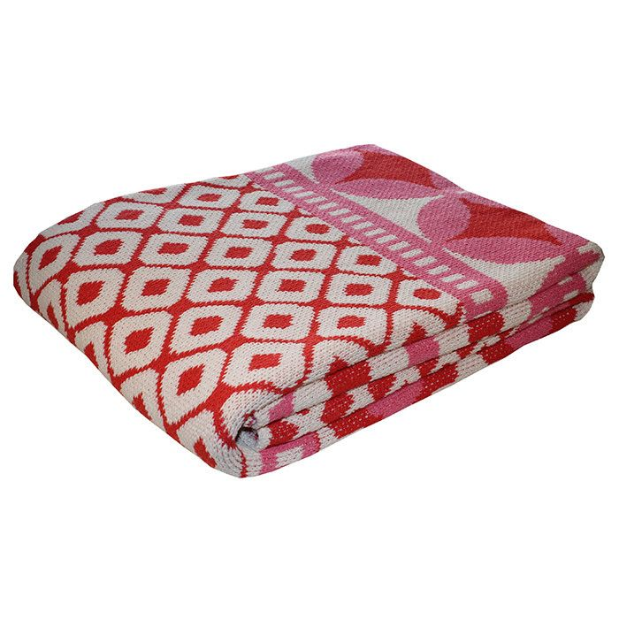 Misaki Throw in Coral