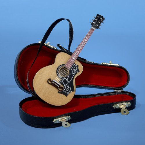 Elvis Presley Acoustic Guitar With Black Faux Leather Case Christmas Ornament See This Great Pro Christmas Decorations Ornaments Black Faux Leather Leather