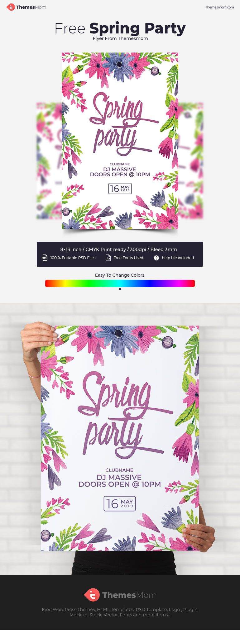 Free Spring Flyer PSD Templates Download ThemesMom