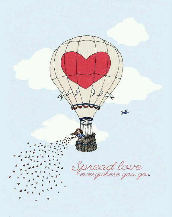 Illustrated Inspiration Quote Pinterest Air Balloon