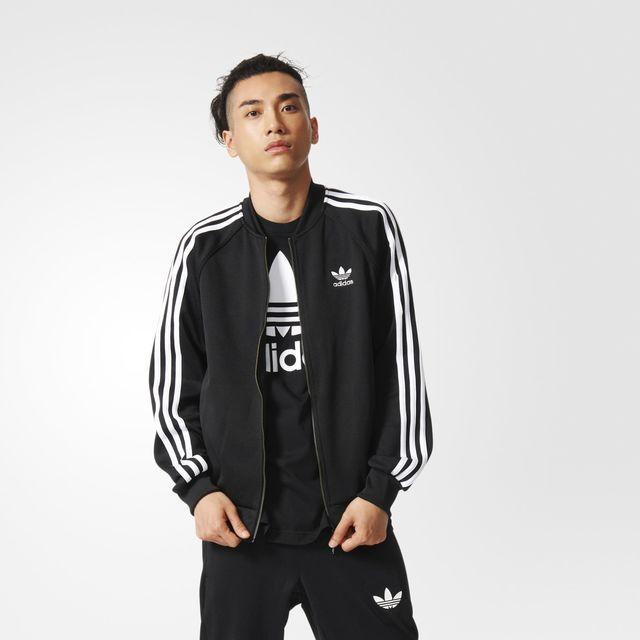 adidas Superstar Track Jacket Blue | adidas UK | Adidas