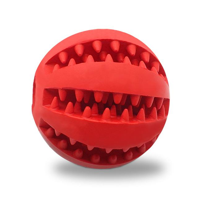 Nontoxic Rubber Pet Dog Tooth Cleaning Ball Toy Puppy Cat Training