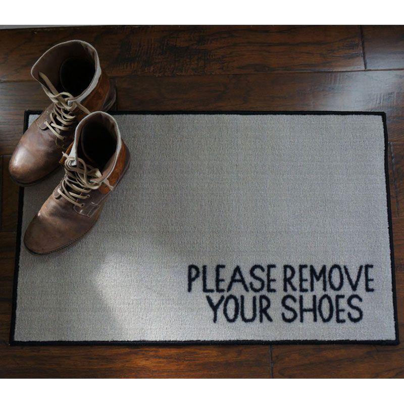 Please Remove Your Shoes Message Doormat Door Mat Clean Freak