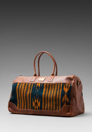 WILL Leather Goods Oaxacan Duffle Bag in Brown  e468d63a6a7b5