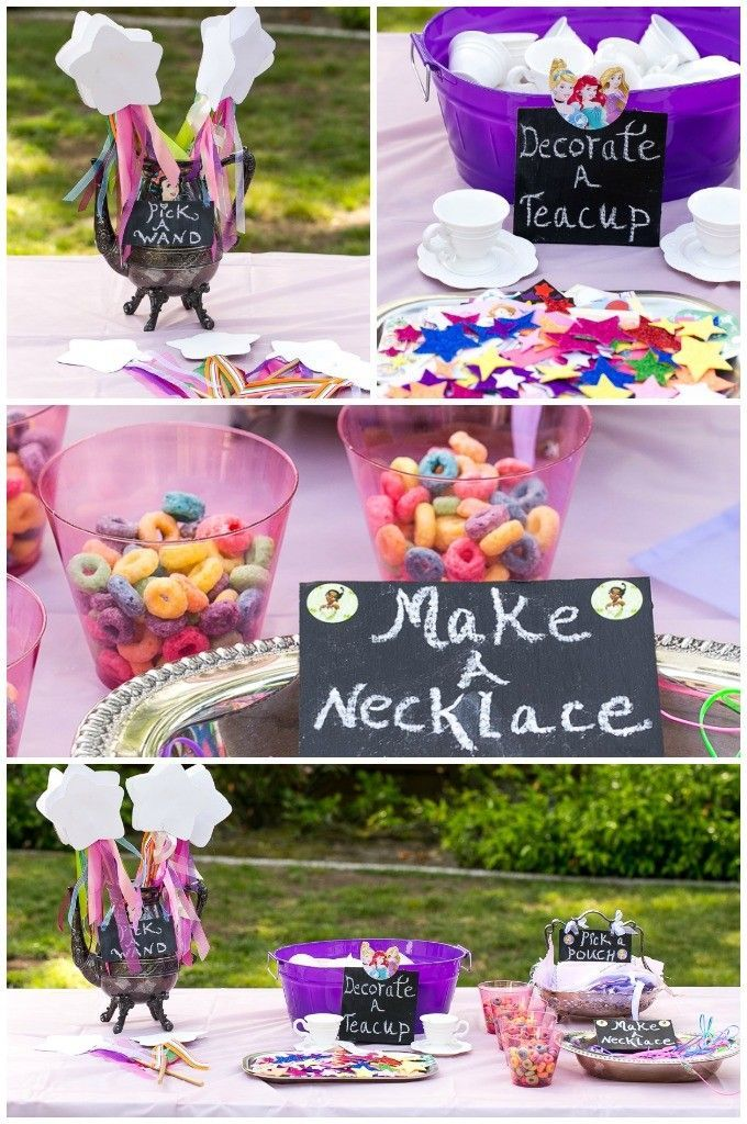 A Princess Tea Time Birthday Party Including Ideas For Food Crafts Activities Favors