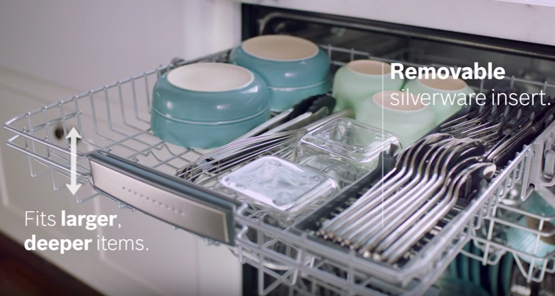 Why You Will Love The New Bosch Myway Third Rack Steel Tub Dishwasher Racks Bosch Dishwashers
