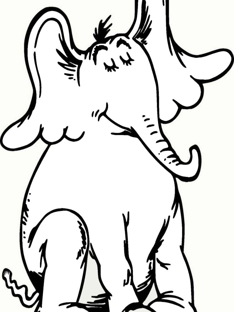 Horton Hears A Who Characters Coloring Pages Dr Seuss Classic