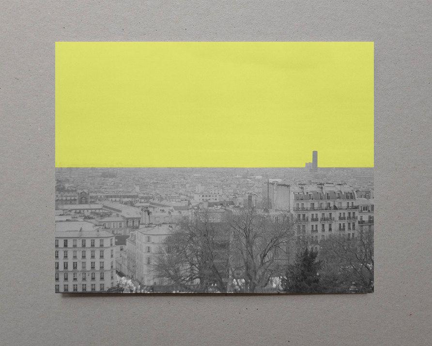 Yellow View Sacré-Cœur Paris Photography Black and White Photography ...