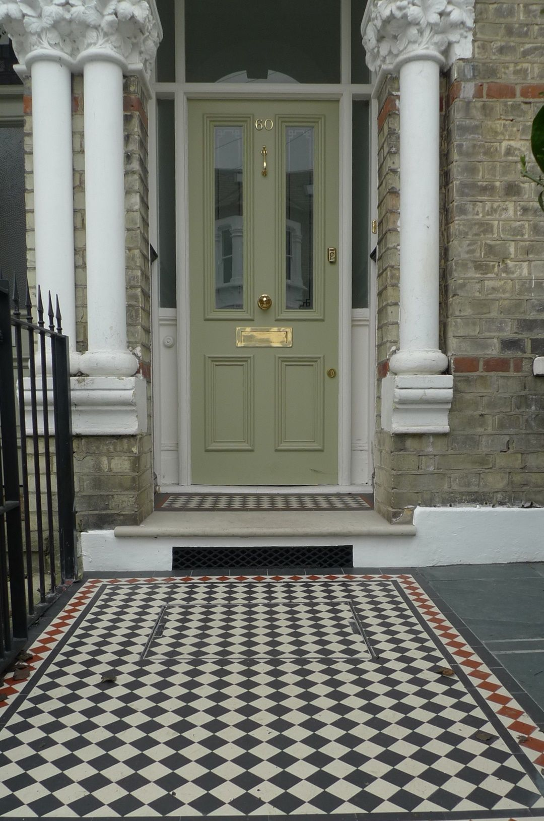 Ornamental Stone Multi Colour Victorian Mosaic York Stone Entrance Stone  Brick Garden Wall Render Garden Wall