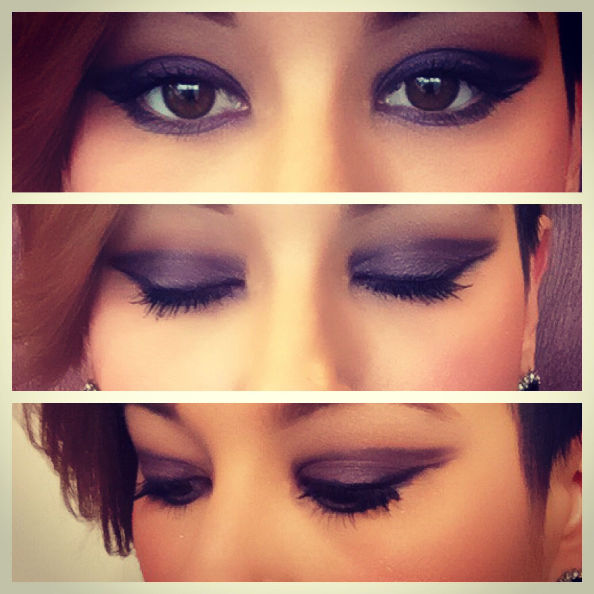 Deep purple smokey eye with a cut crease makeuphair styles by me