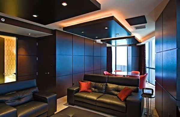 5 gypsum false ceiling designs with LED ceiling lights for living