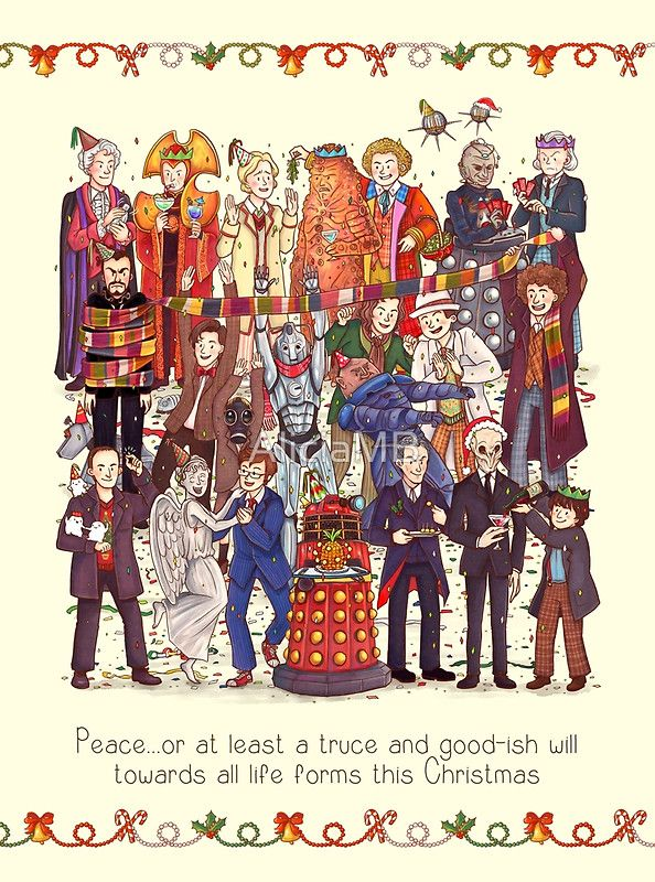 Doctor Who Christmas Cards.The Party Doesn T Start Until The Doctor Walks In Twelve Times