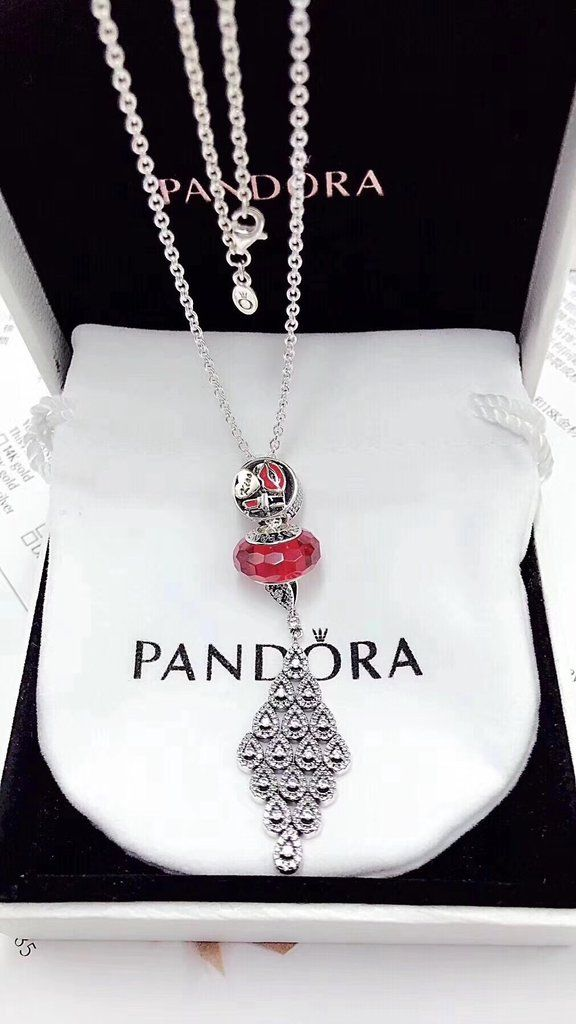 Pandora charm pendant necklace red with heart tassel tassels pandora charm pendant necklace red with heart tassel aloadofball Image collections