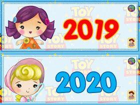 Calendario Escolar Móvil De Toy Story Decoración Aula De Preescolar Calendario Preescolar Calendario Para Niños