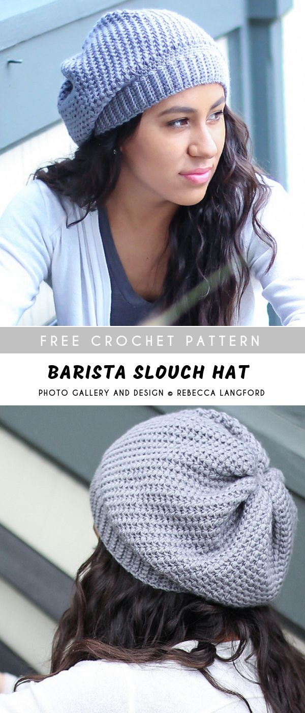 Barista Slouch Crochet Hat with Free Pattern -   12 knitting and crochet Patterns slouch hats ideas