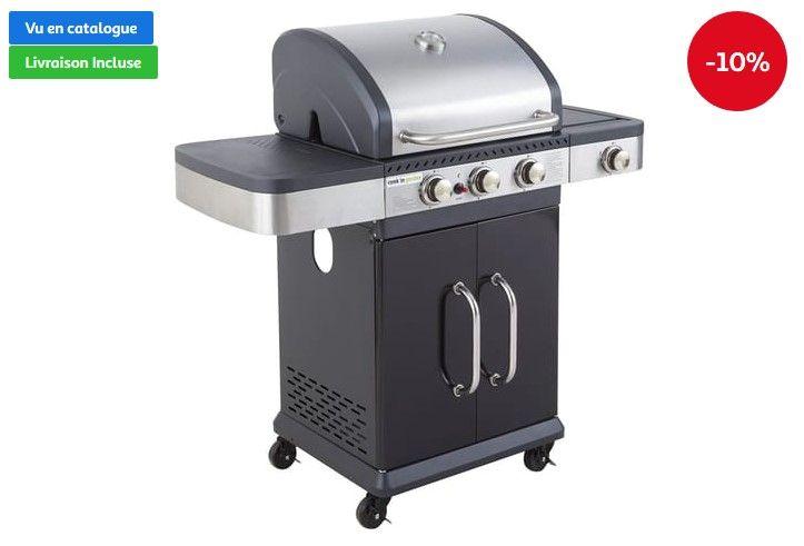 Barbecue Gaz Fidgi 3 Cook In Garden Pas Cher 3 Brûleurs 1 Latéral