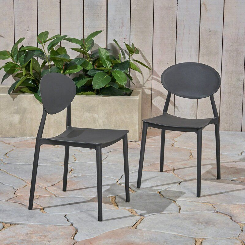 Ebern Designs Belford Stacking Patio Dining Chair Reviews Wayfair Patio Dining Chairs Dining Chairs Outdoor Dining Chairs