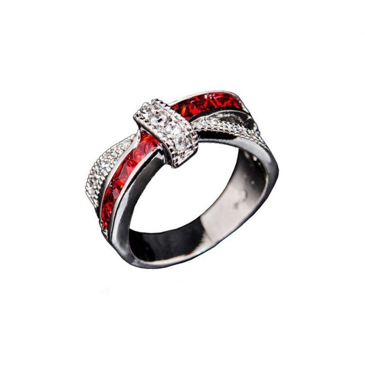 Firefighter Wedding Ring Diamond Firefighter Girlfriend Jewelry Firefighter Wedding Princess Ring