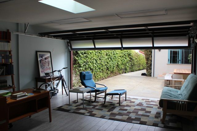 Superieur Garage Conversion Contemporary Home Office Los Angeles Cool House Images