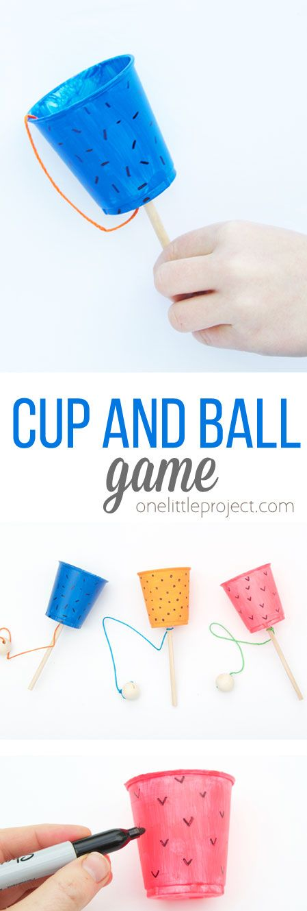 Photo of Cup and Ball Game – One Little Project