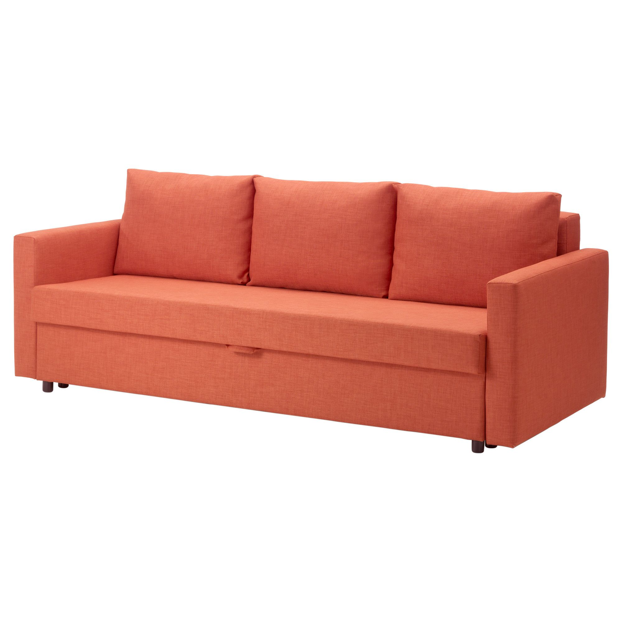 IKEA - FRIHETEN, Sleeper sofa, Skiftebo dark orange, , Easily ...