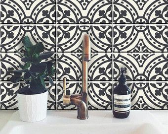 Rectangular Subway Tile Decals Encaustic Kitchen Bathroom Stair Floor Furniture