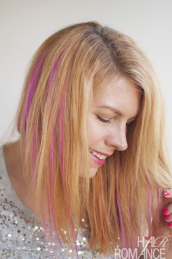 How to diy pink highlights in your hair hair romance trends how to diy pink highlights in your hair pmusecretfo Choice Image