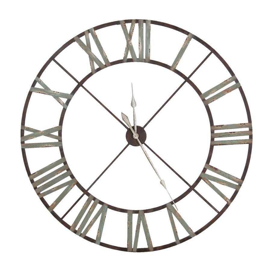Elegant Wall Clock In Copper Or Nickel Extra Large Wall