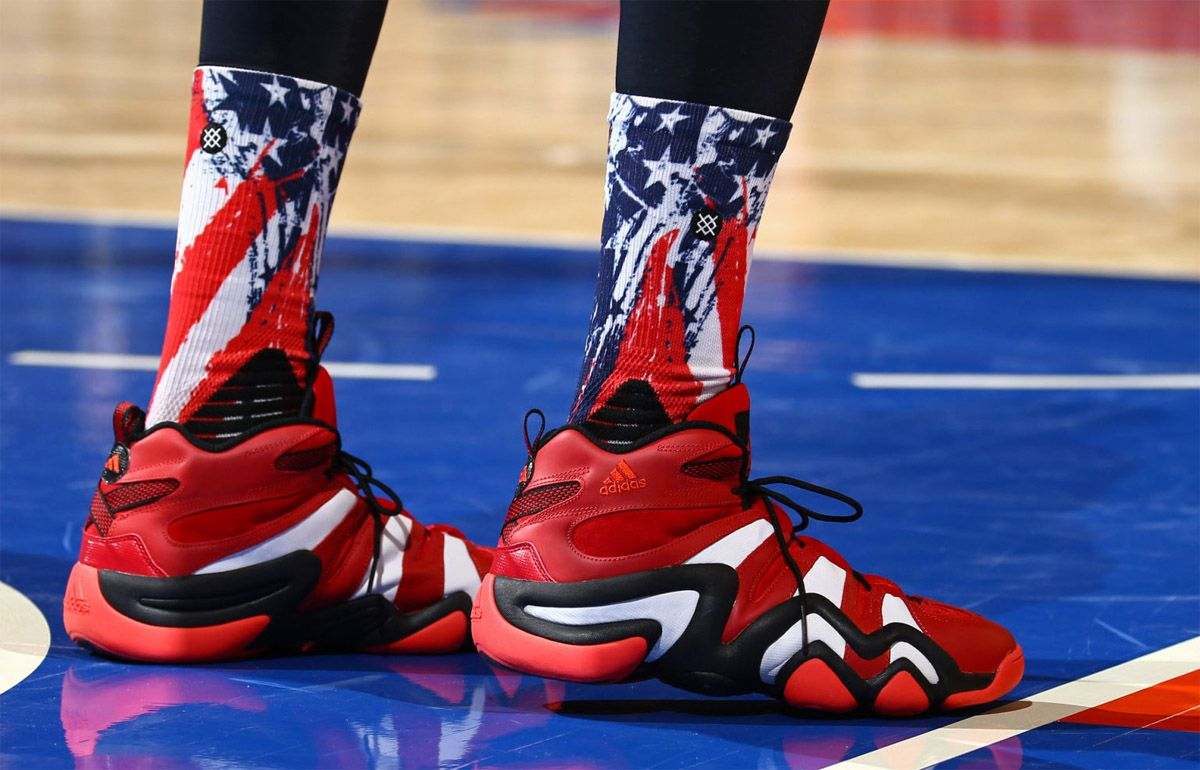 watch c433d 836d5 Nick Young wearing the adidas Crazy ...