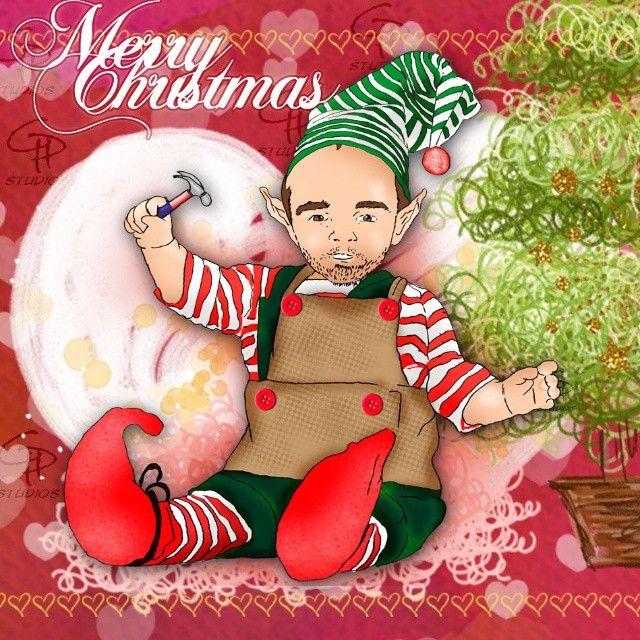 Feliz inicio de la Navidad! En GP Studios esperamos que se cumplan todos sus deseos! Ya este lindo duende de Santa comenzo su jornada navideña! #merrychristmas #cuteavatars #cute #elf #illustrations #hohoho #holiday #december #christmastree #christmaslights #picoftheday #photooftheday #instapic