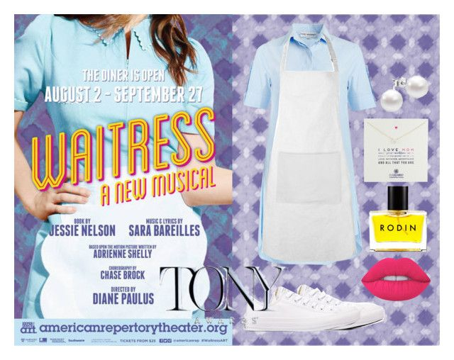 """""""Waitress the Musical"""" by katiebodlak ❤ liked on Polyvore featuring Converse, Dogeared, Rodin and Lime Crime"""