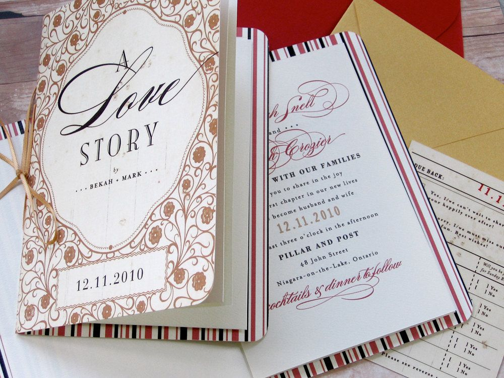 Storybook Fairy Tale Happily Ever After Library Themed Invitation